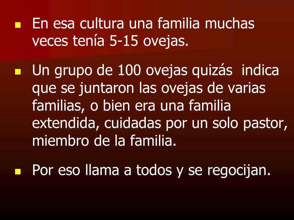 En esa cultura una familia muchas veces tenía 5-15 ovejas.
