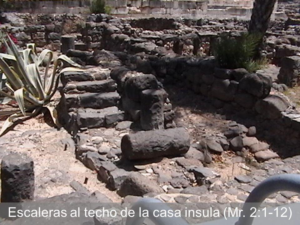 Escaleras al techo de la casa insula (Mr. 2:1-12)