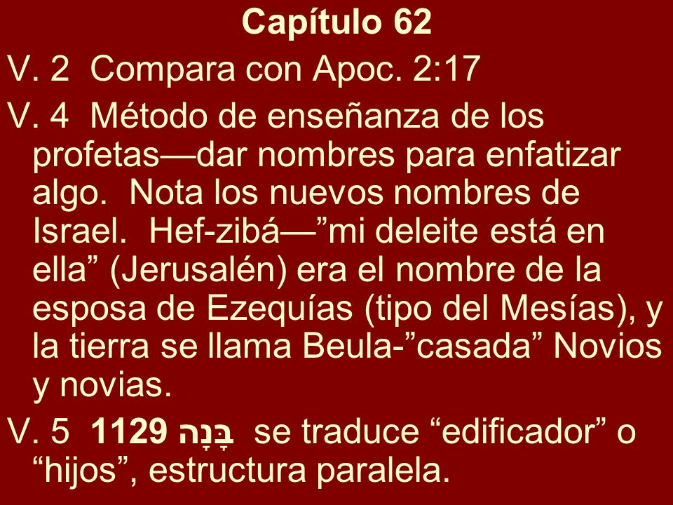 Capítulo 62V. 2 Compara con Apoc. 2:17.