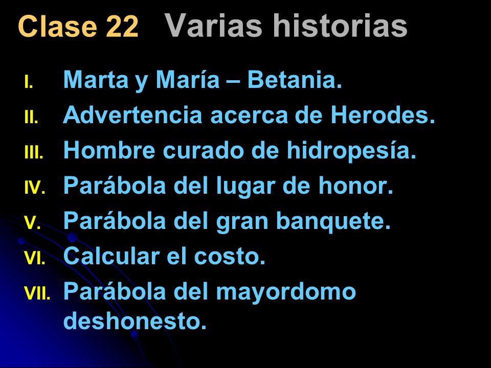Clase 22 Varias historias