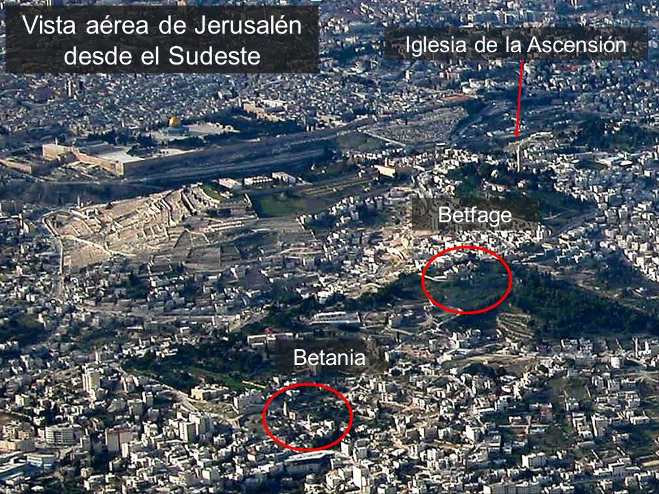 Jerusalem area aerial from southeast close-up