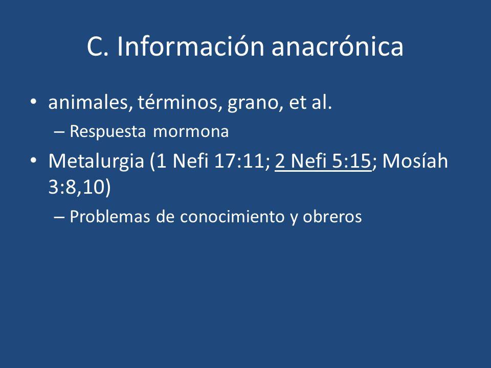 C. Información anacrónica