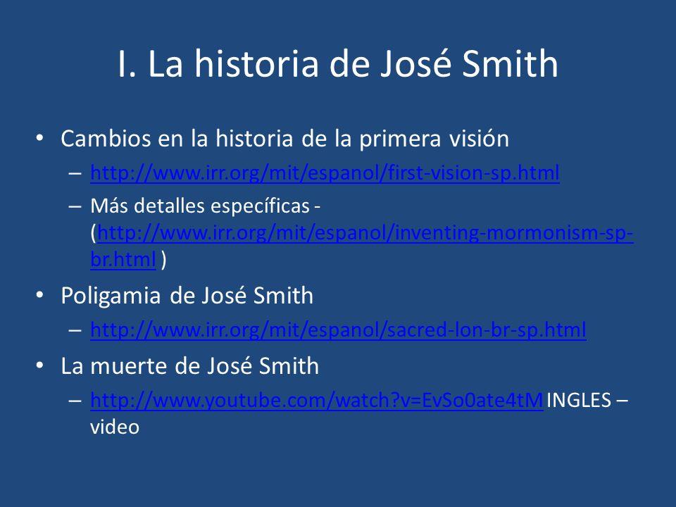I. La historia de José Smith