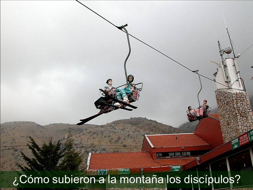 ¿Cómo subieron a la montaña los discípulos