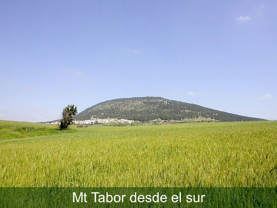 Mt Tabor desde el sur Mt Tabor from south