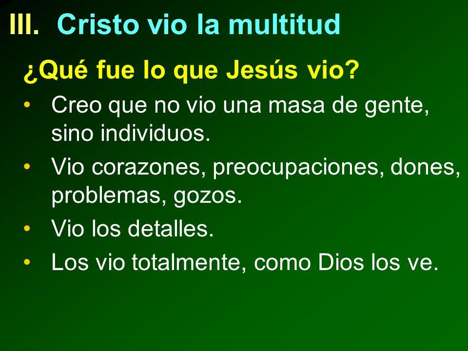 III. Cristo vio la multitud