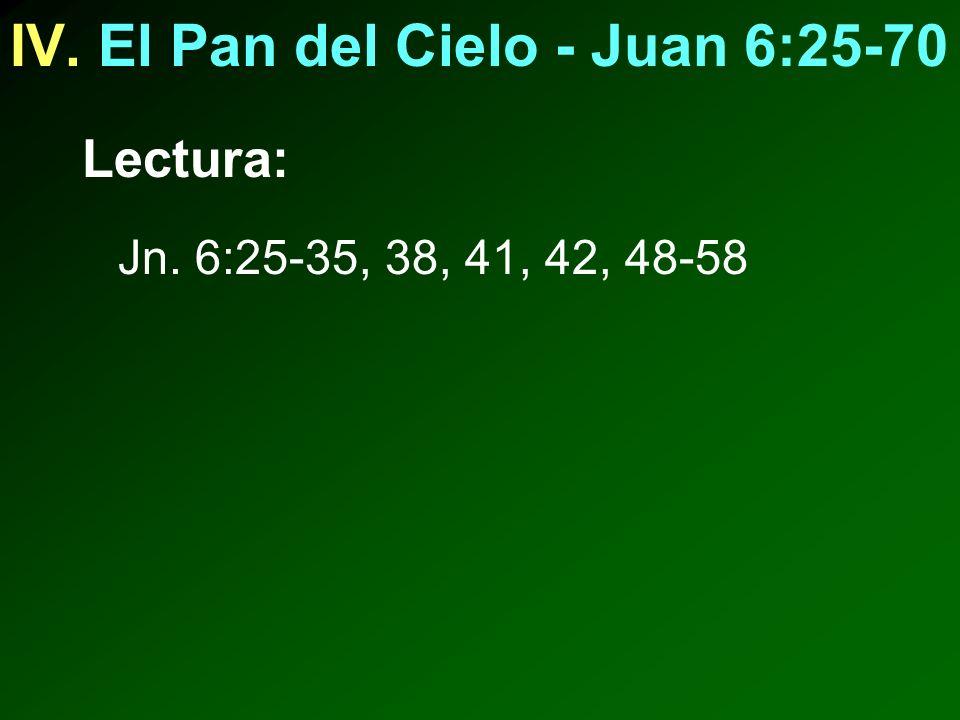 IV. El Pan del Cielo - Juan 6:25-70