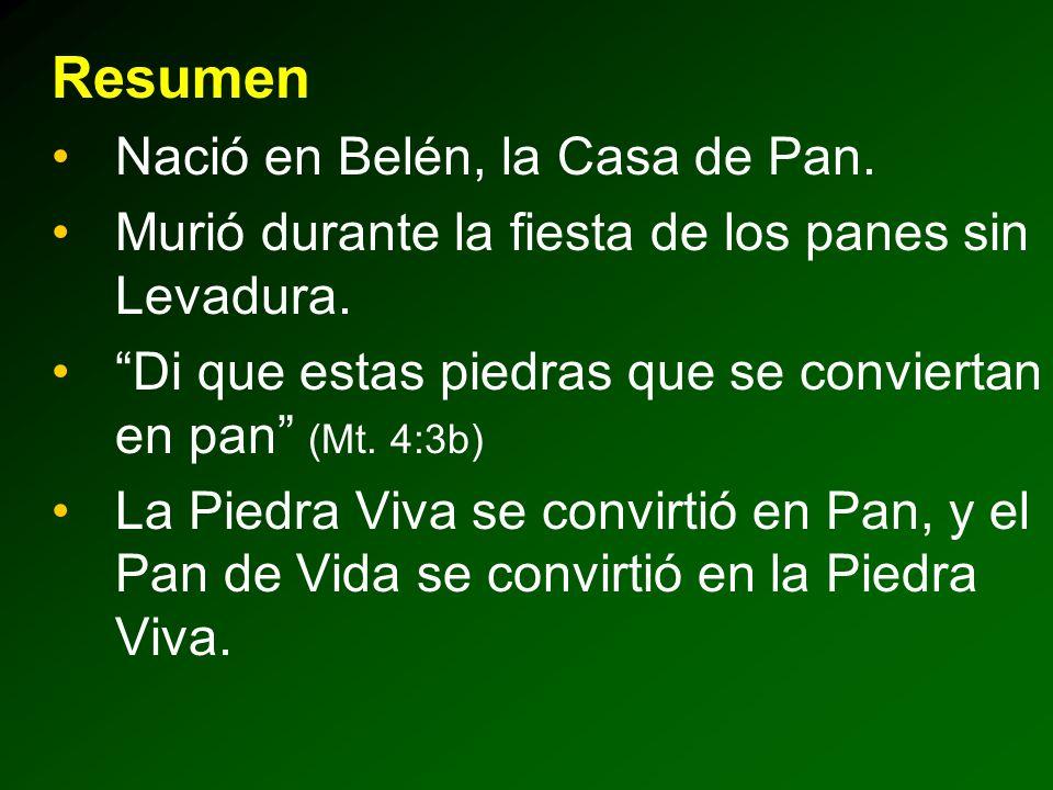 Resumen Nació en Belén, la Casa de Pan.