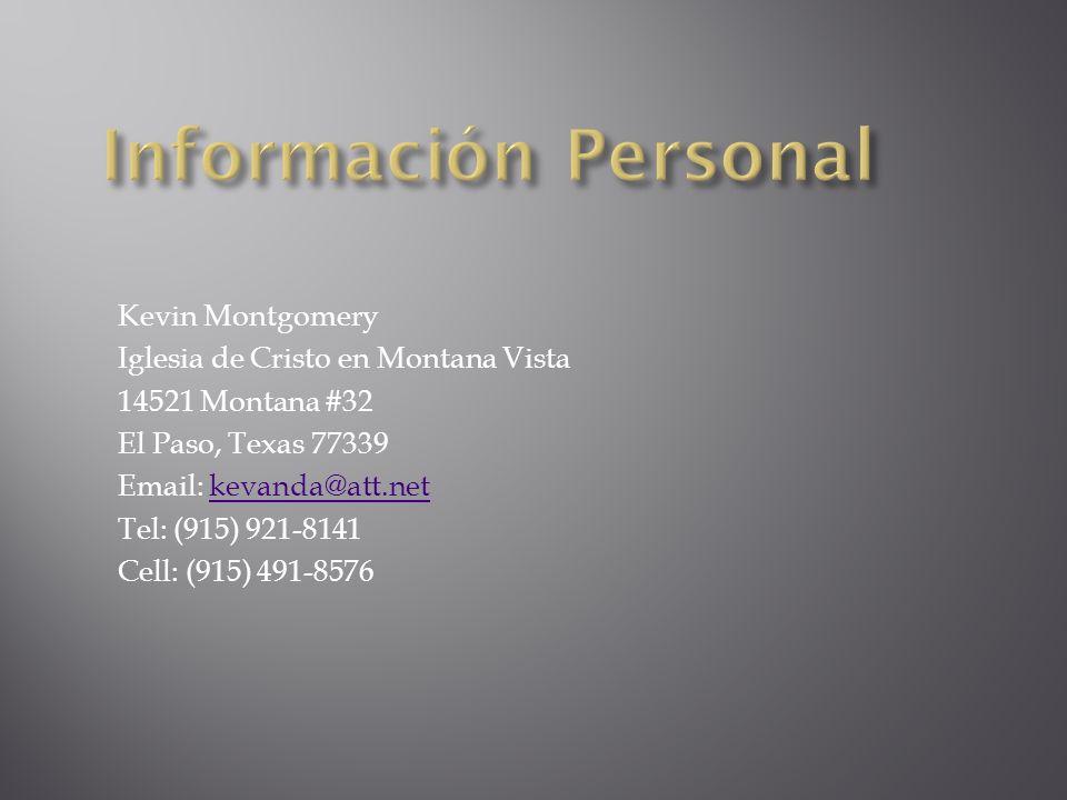 Información Personal Kevin Montgomery