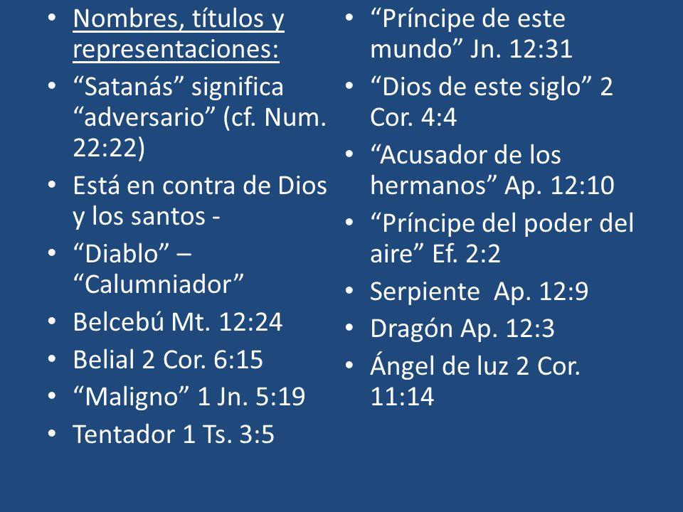 Nombres, títulos y representaciones:
