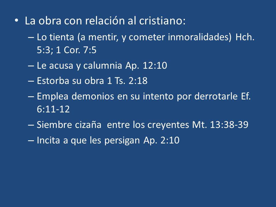 La obra con relación al cristiano: