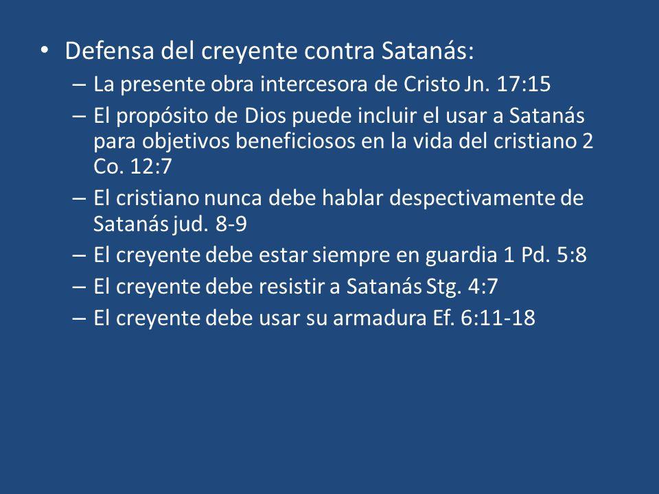Defensa del creyente contra Satanás: