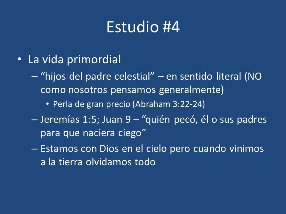 Estudio #4 La vida primordial