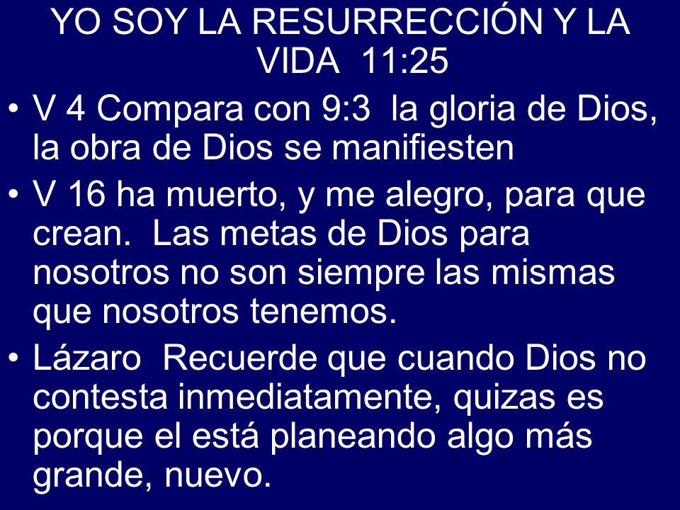 YO SOY LA RESURRECCIÓN Y LA VIDA 11:25