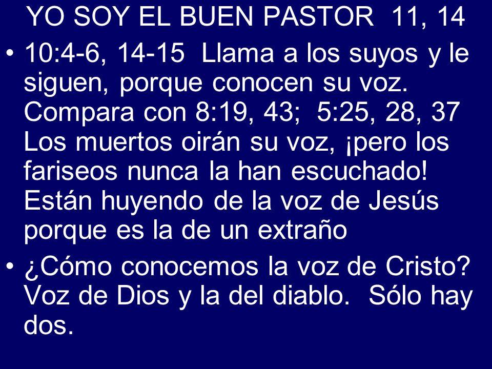 YO SOY EL BUEN PASTOR 11, 14