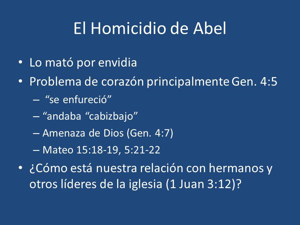 El Homicidio de Abel Lo mató por envidia