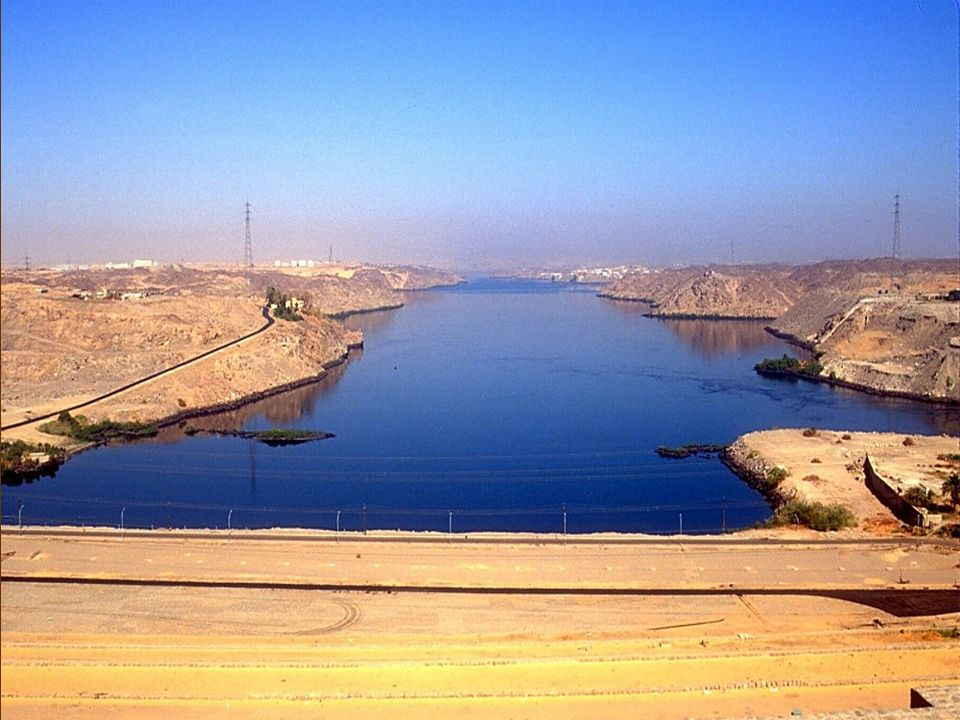 Nile River looking north from Aswan High Dam