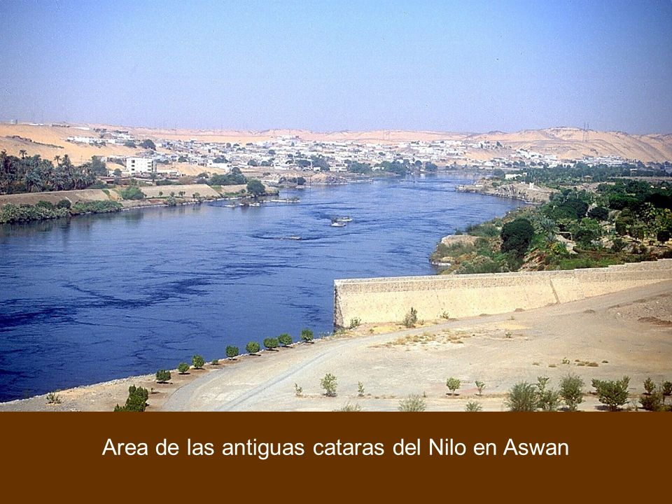 First Cataract area just north of Old Aswan Dam