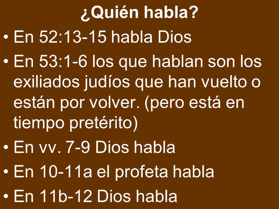 ¿Quién habla En 52:13-15 habla Dios.
