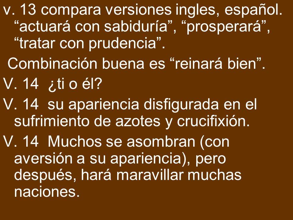 v. 13 compara versiones ingles, español