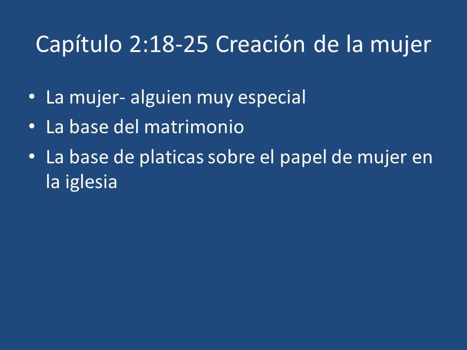 Capítulo 2:18-25 Creación de la mujer