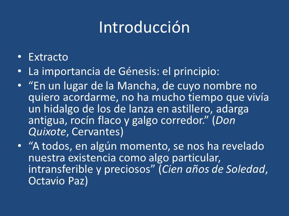 Introducción Extracto La importancia de Génesis: el principio: