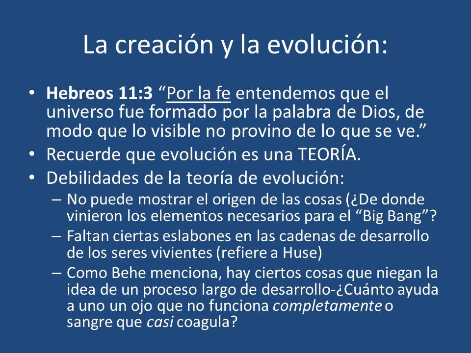 La creación y la evolución: