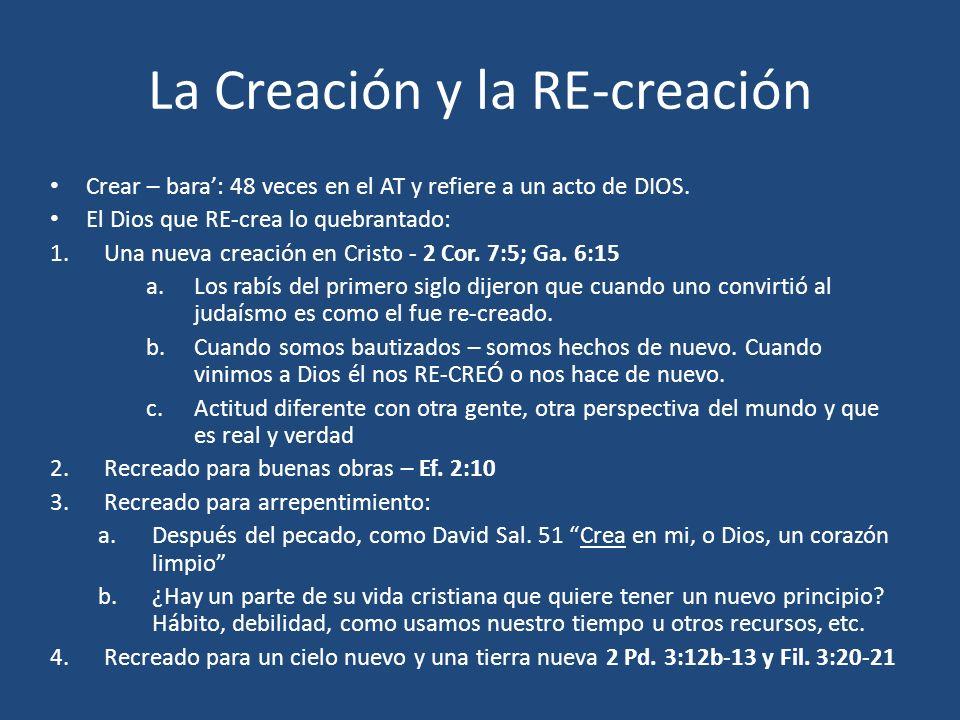 La Creación y la RE-creación