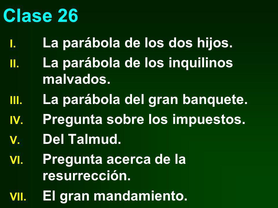 Clase 26 La parábola de los dos hijos.