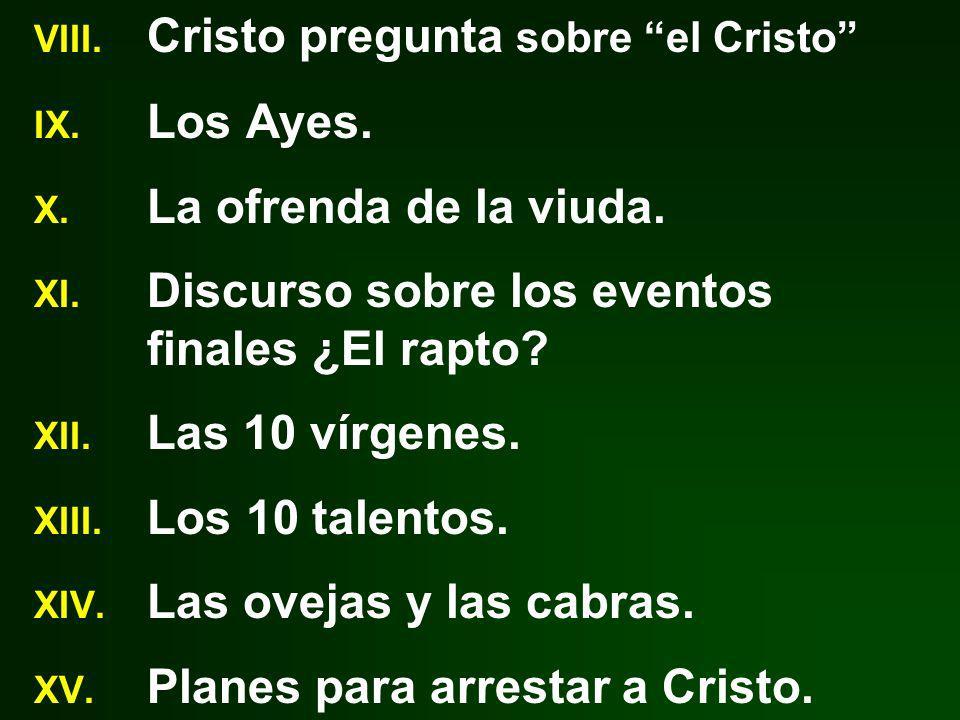 Cristo pregunta sobre el Cristo