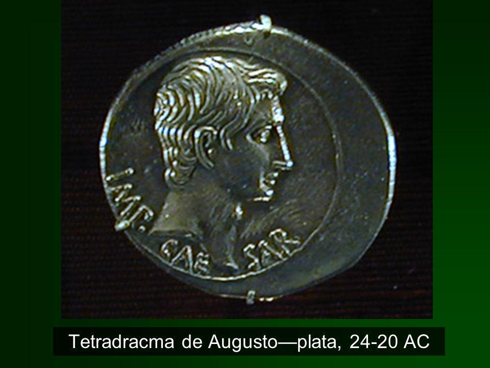 Tetradracma de Augusto—plata, 24-20 AC