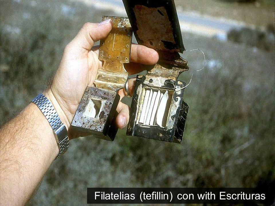 Filatelias (tefillin) con with Escrituras