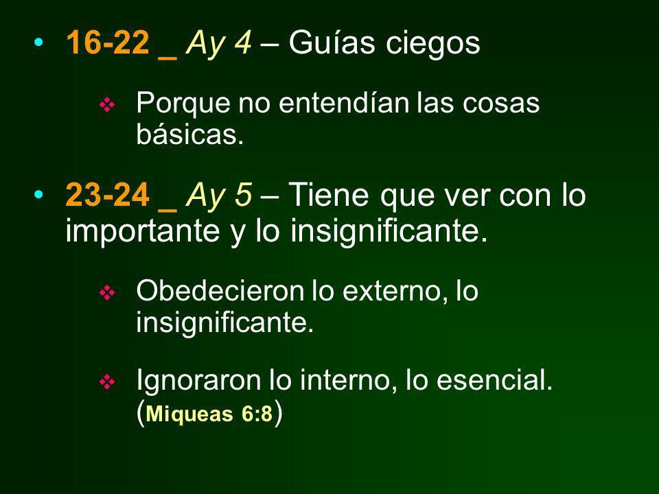 23-24 _ Ay 5 – Tiene que ver con lo importante y lo insignificante.