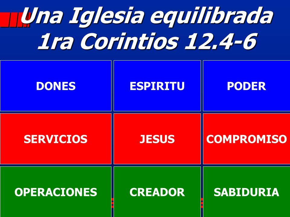 Una Iglesia equilibrada 1ra Corintios 12.4-6