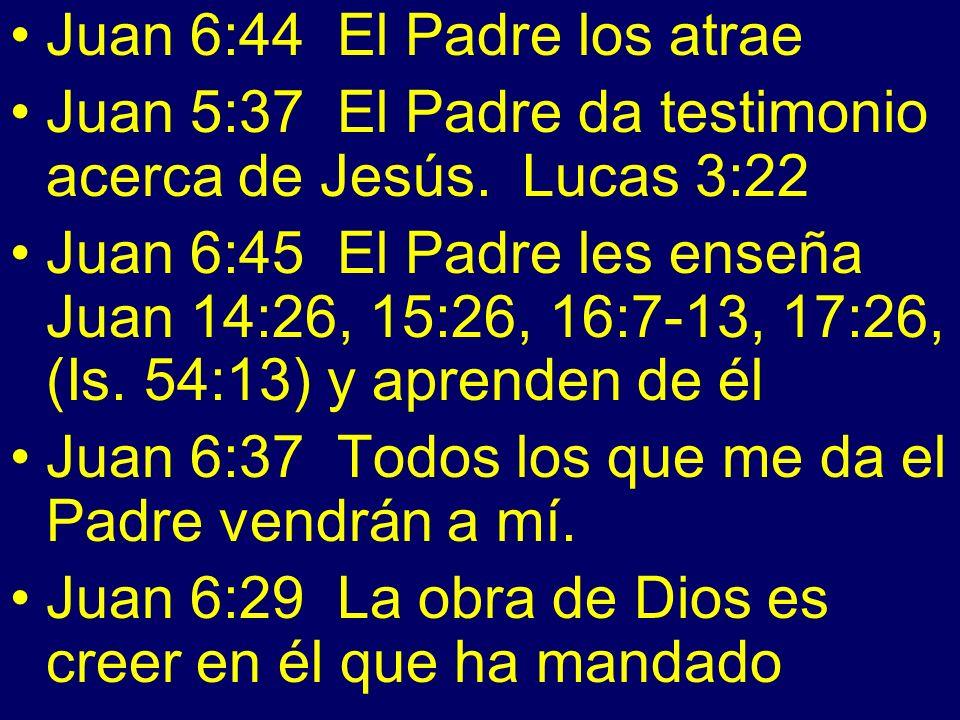 Juan 6:44 El Padre los atrae