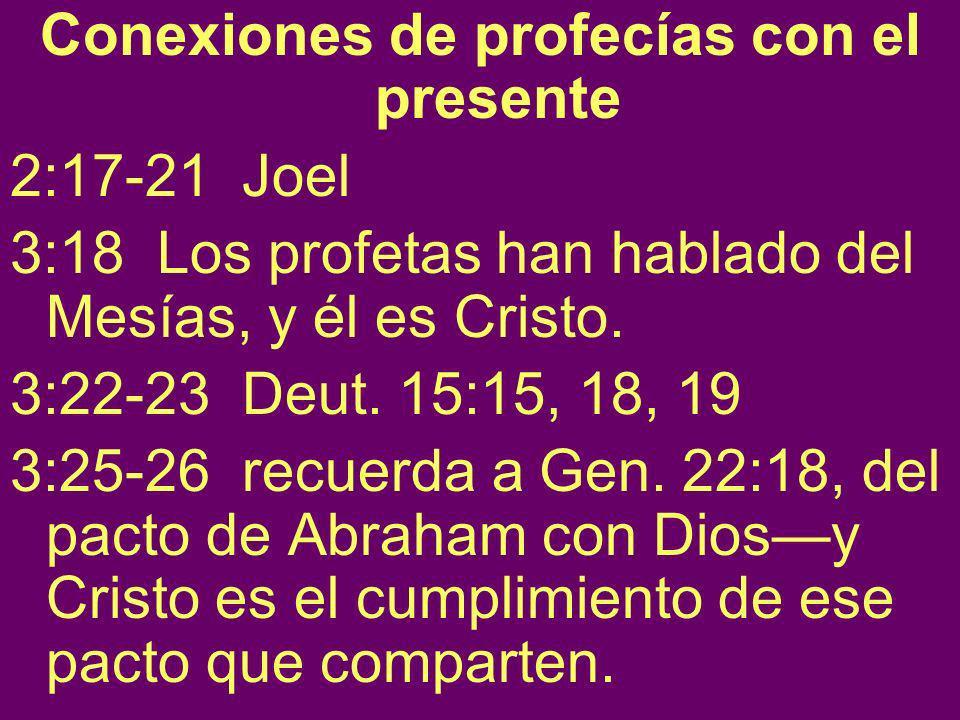 Conexiones de profecías con el presente