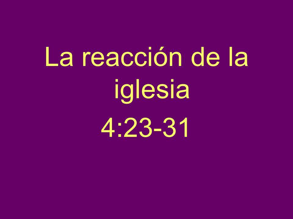 La reacción de la iglesia