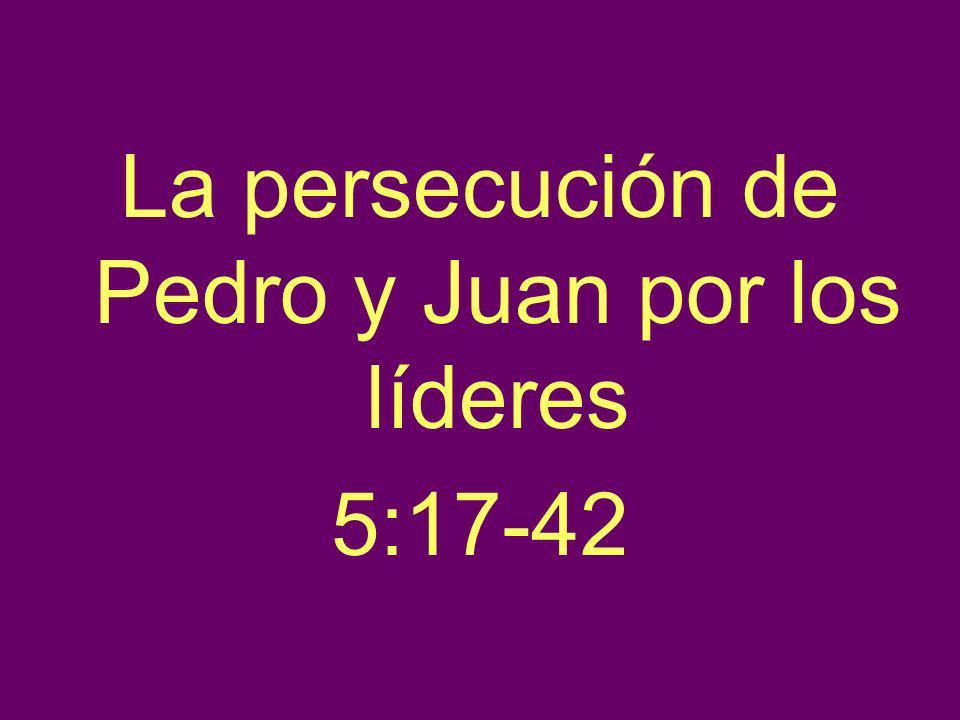 La persecución de Pedro y Juan por los líderes