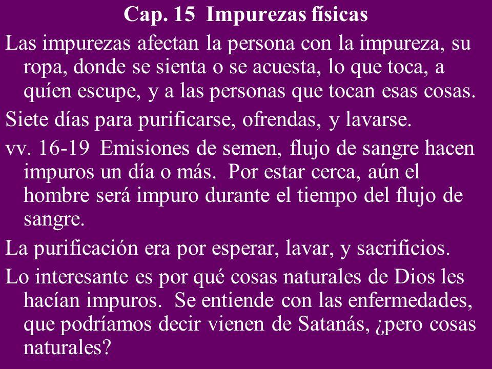 Cap. 15 Impurezas físicas