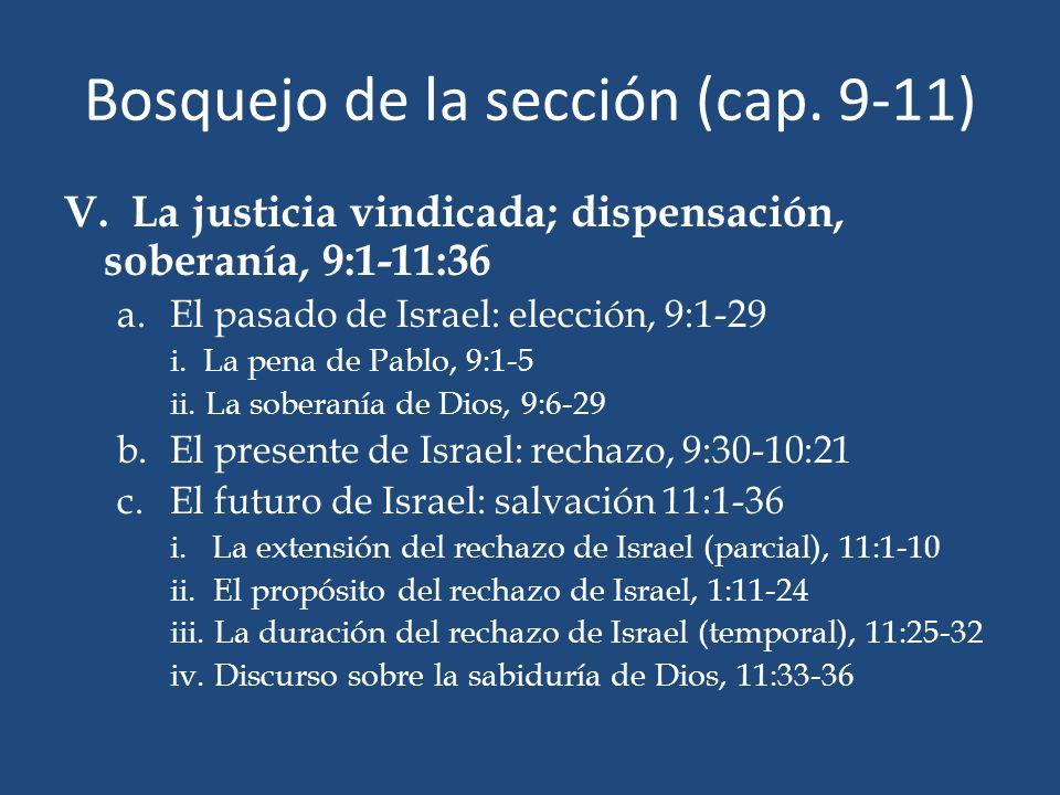 Bosquejo de la sección (cap. 9-11)