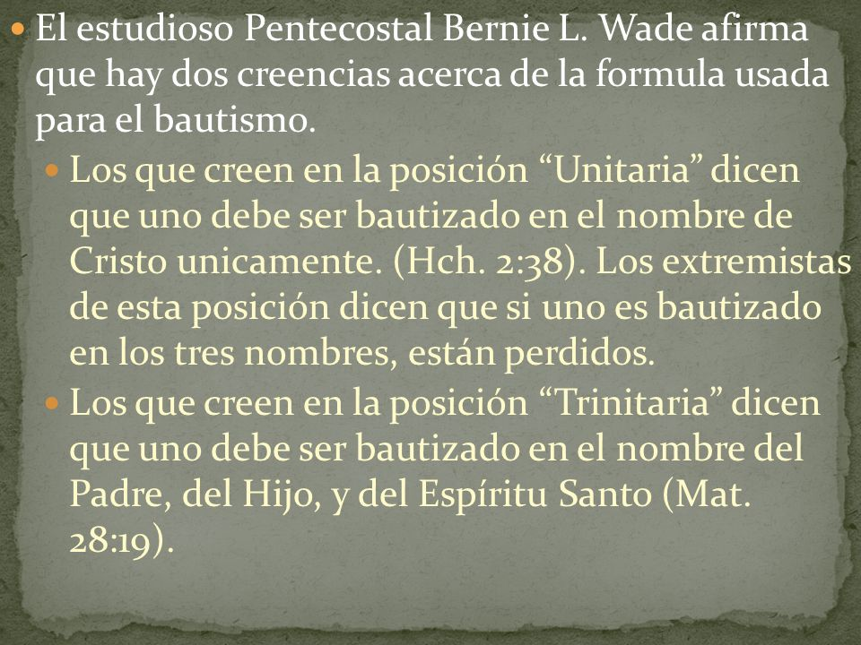 El estudioso Pentecostal Bernie L