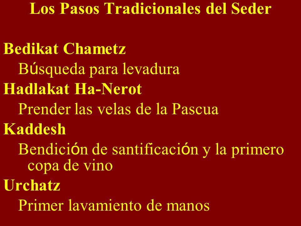 Los Pasos Tradicionales del Seder