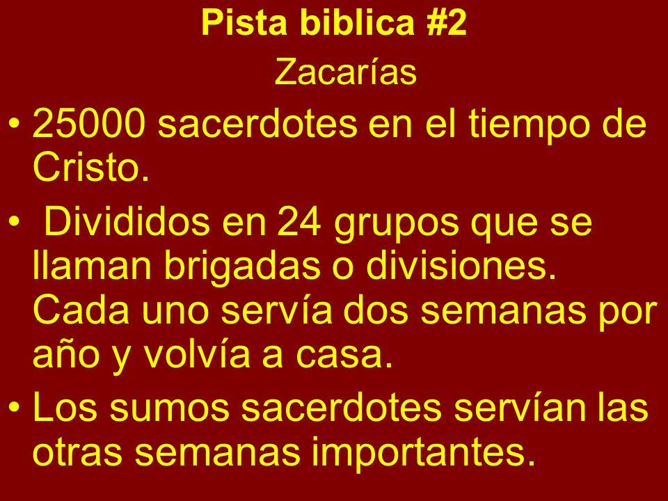 25000 sacerdotes en el tiempo de Cristo.
