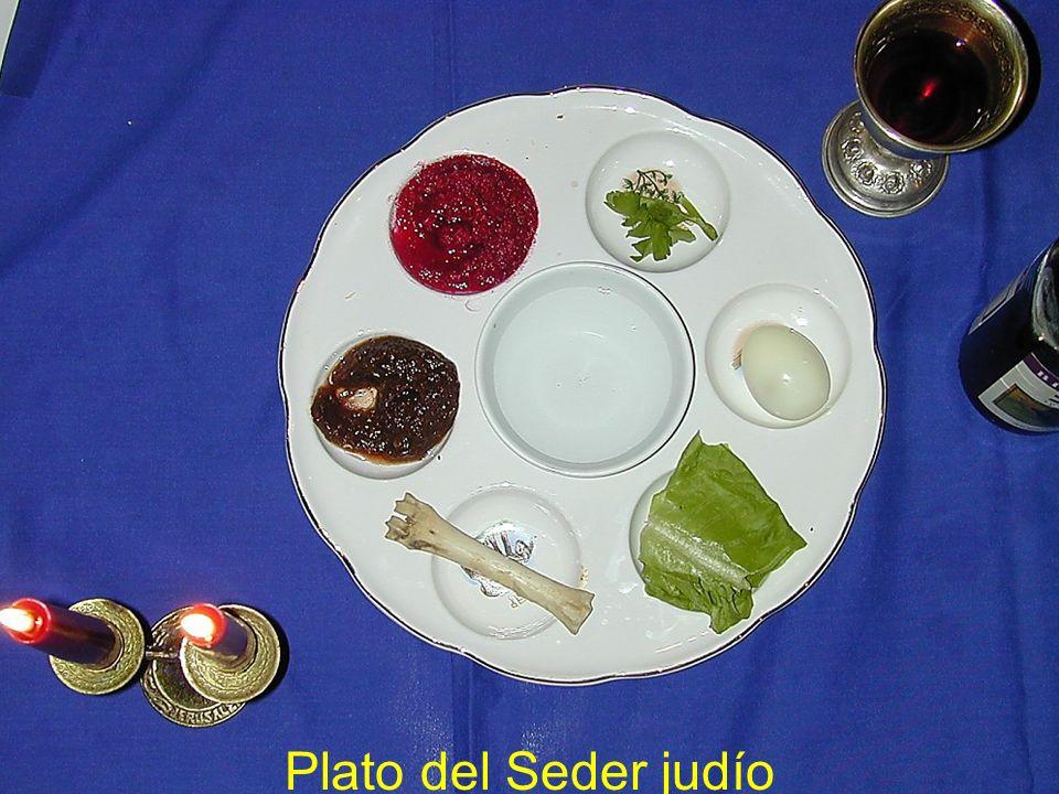 Plato del Seder judío Passover seder plate