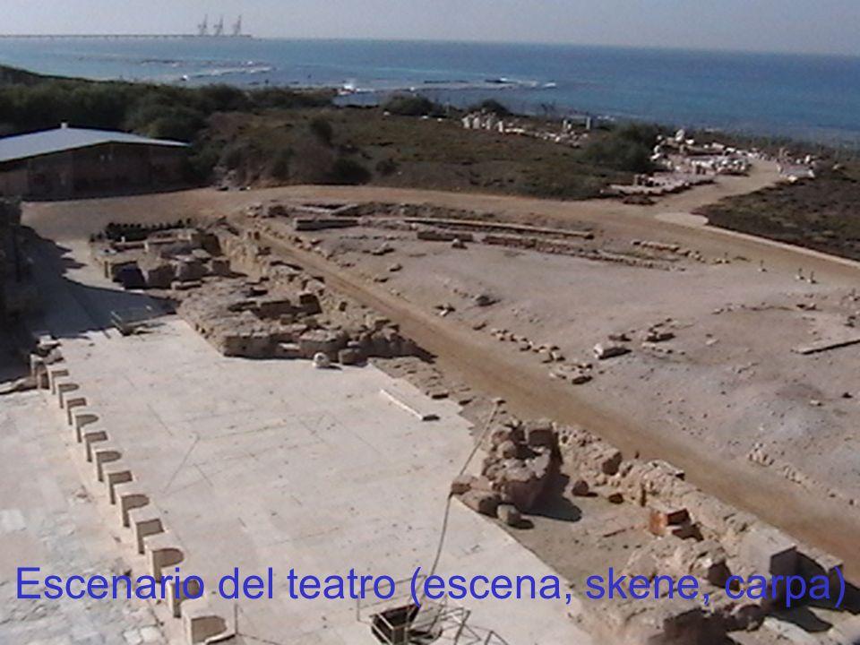 Escenario del teatro (escena, skene, carpa)