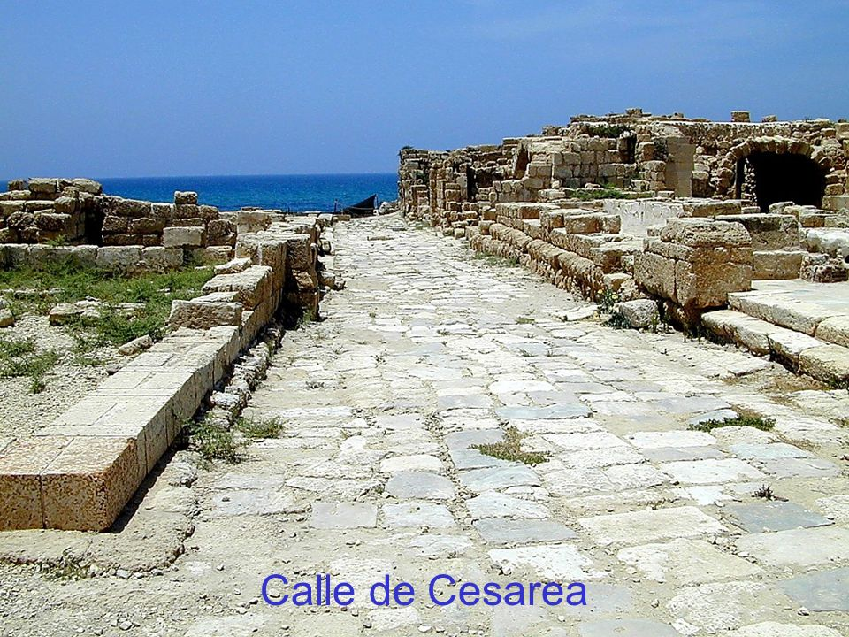 Calle de Cesarea Caesarea paved street The Early Church in Caesarea