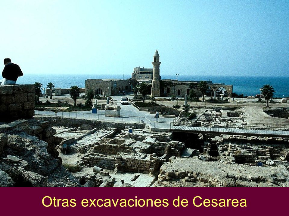 Caesarea excavations near harbor