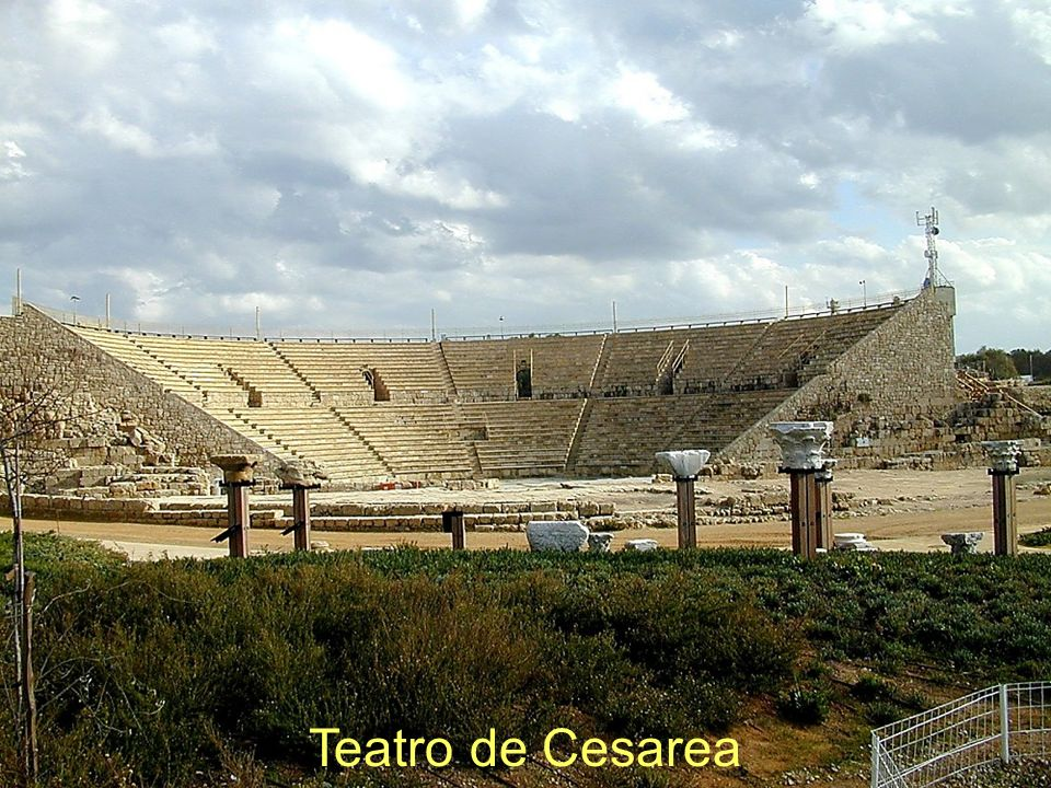 Teatro de Cesarea Caesarea theater Construction of the Theater