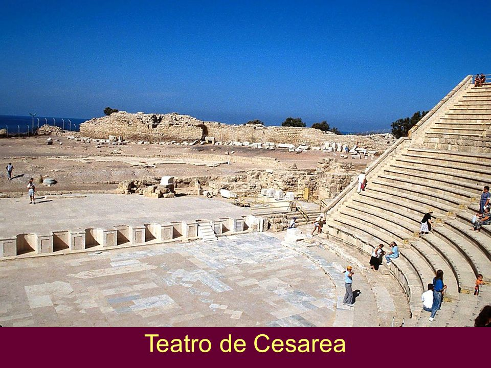 Teatro de Cesarea Caesarea theater Features of the Theater