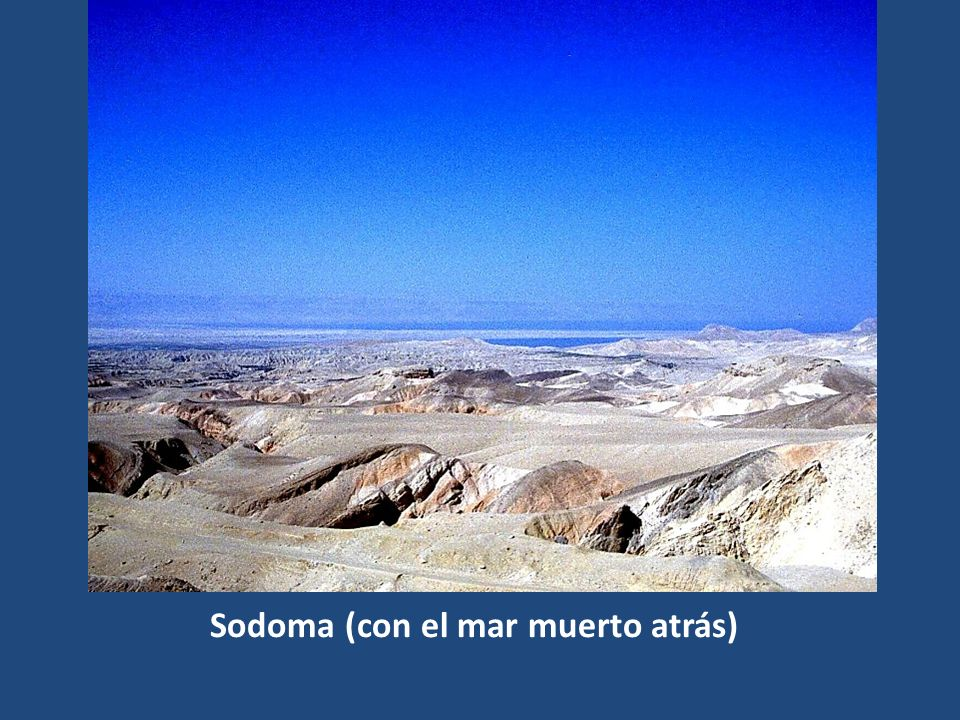 Sodoma (con el mar muerto atrás)
